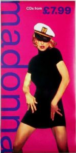 MADONNA - UK 3ft IN-STORE DISPLAY PROMO BANNER